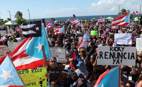 [Quinto dia consecutivo de protesto em Porto Rico termina em confronto com polícia]
