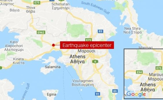 [Atenas é atingida por um terremoto de magnitude 5.1]