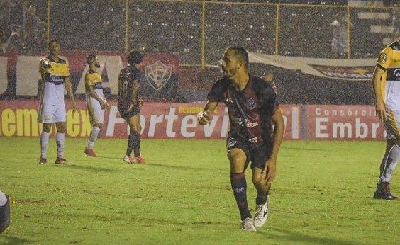 [ Autor de gols na vitória contra o Criciúma, Anselmo Ramon comemora: 'Hoje foi uma noite feliz']