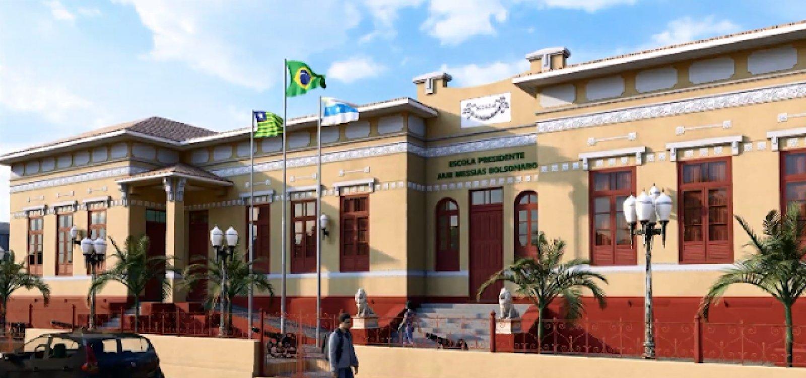 [Letreiro com nome de Bolsonaro é retirado de escola militar no Piauí]