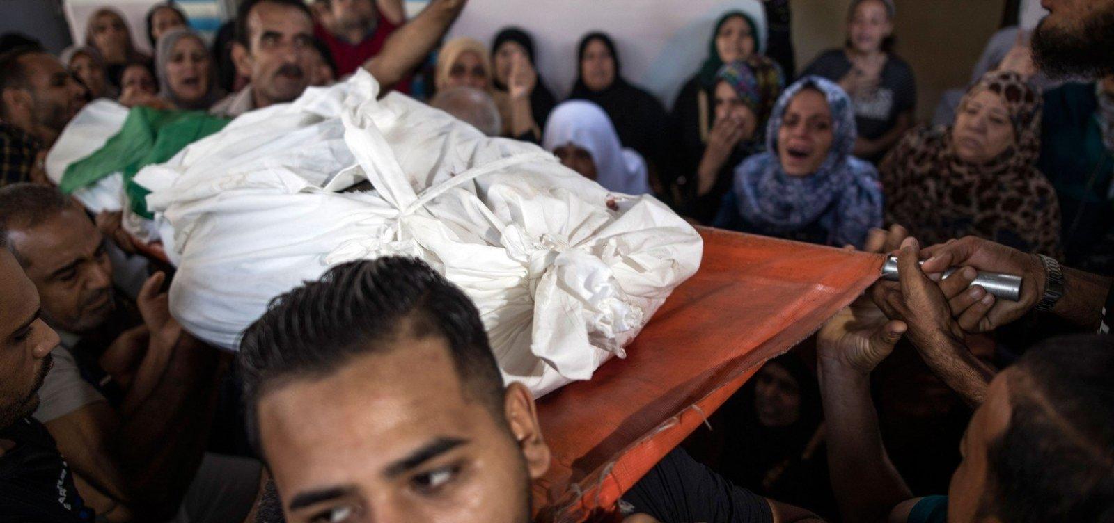 [Três palestinos são mortos em Gaza após disparos de foguetes contra Israel]