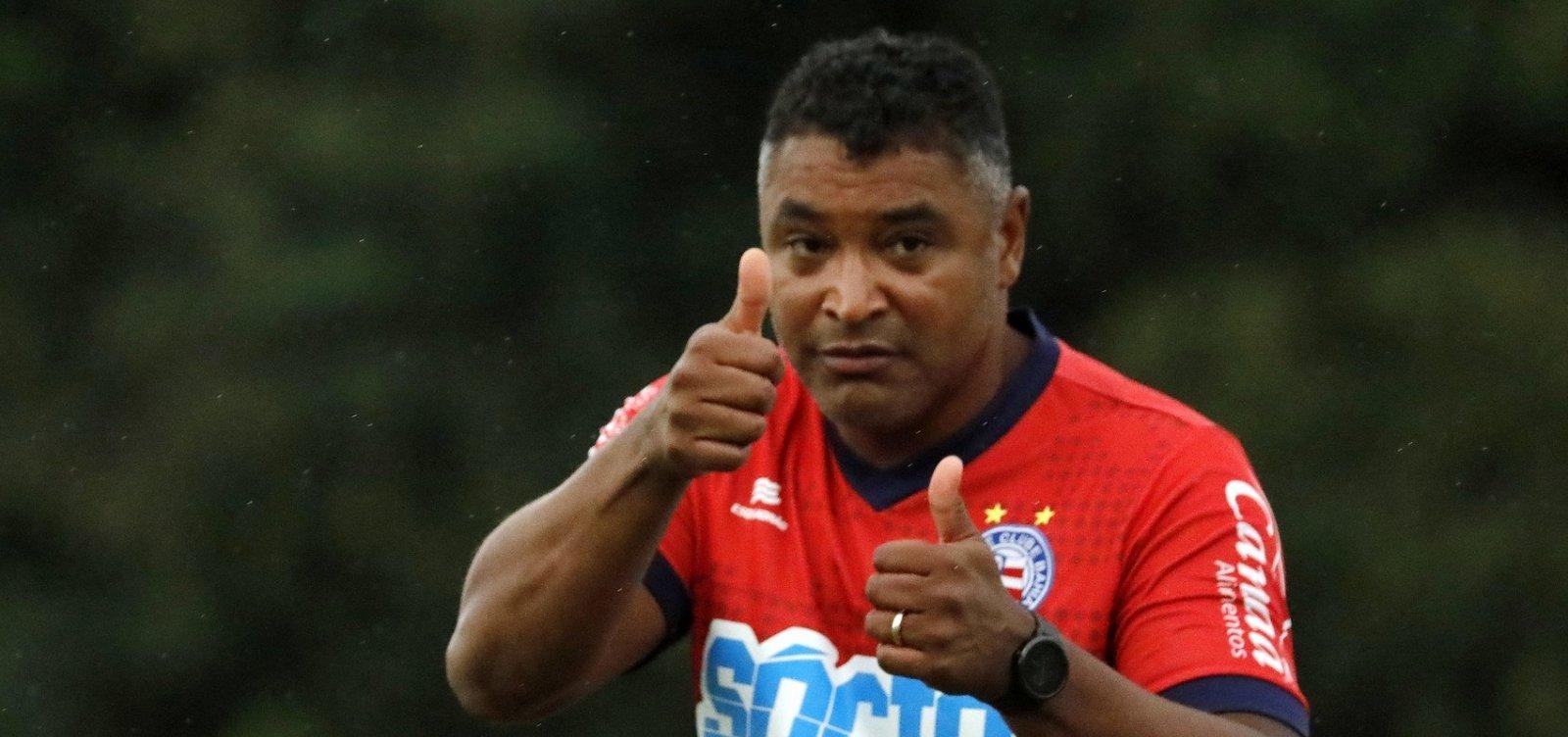 [Roger fala em frustração após empate com o Goiás na Fonte Nova ]