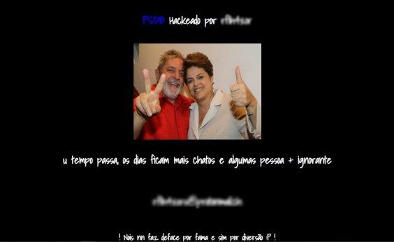 [Site do PSDB é hackeado e exibe foto de Lula e Dilma]