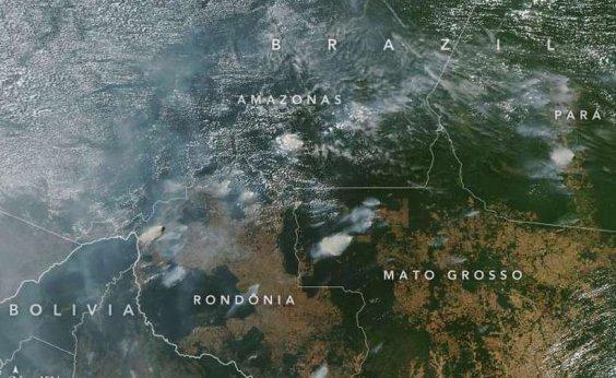 [Nasa registra concentração de queimadas na Amazônia]
