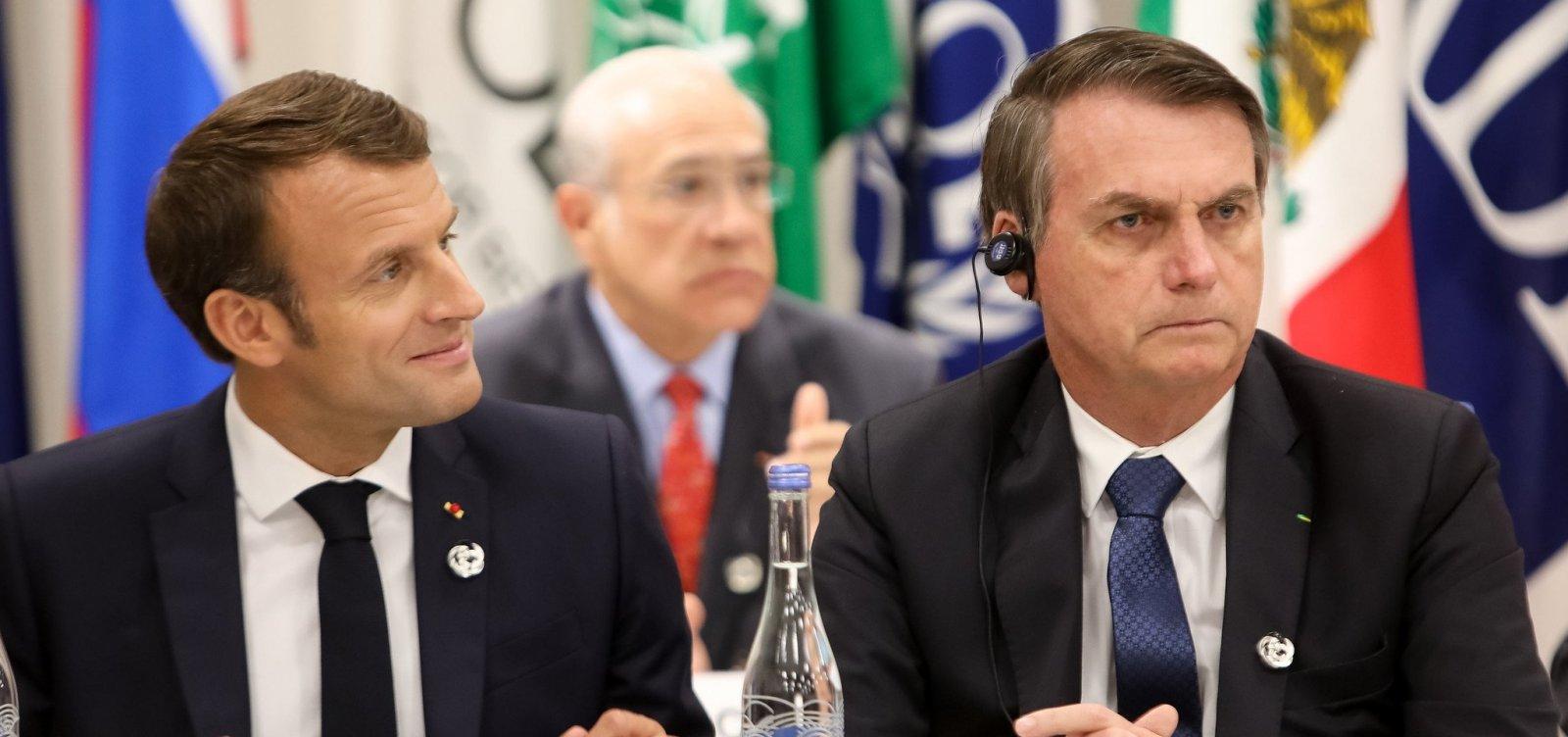 [Após Bolsonaro 'mentir' para Macron, França vai rejeitar acordo da União Europeia com Mercosul]