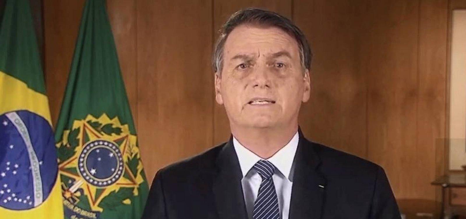 [Bolsonaro estuda fazer pronunciamento em rede nacional de TV sobre Amazônia, diz coluna]