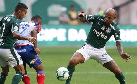 [STJD suspende Felipe Melo por quatro jogos após cotovelada em Lucca, do Bahia]