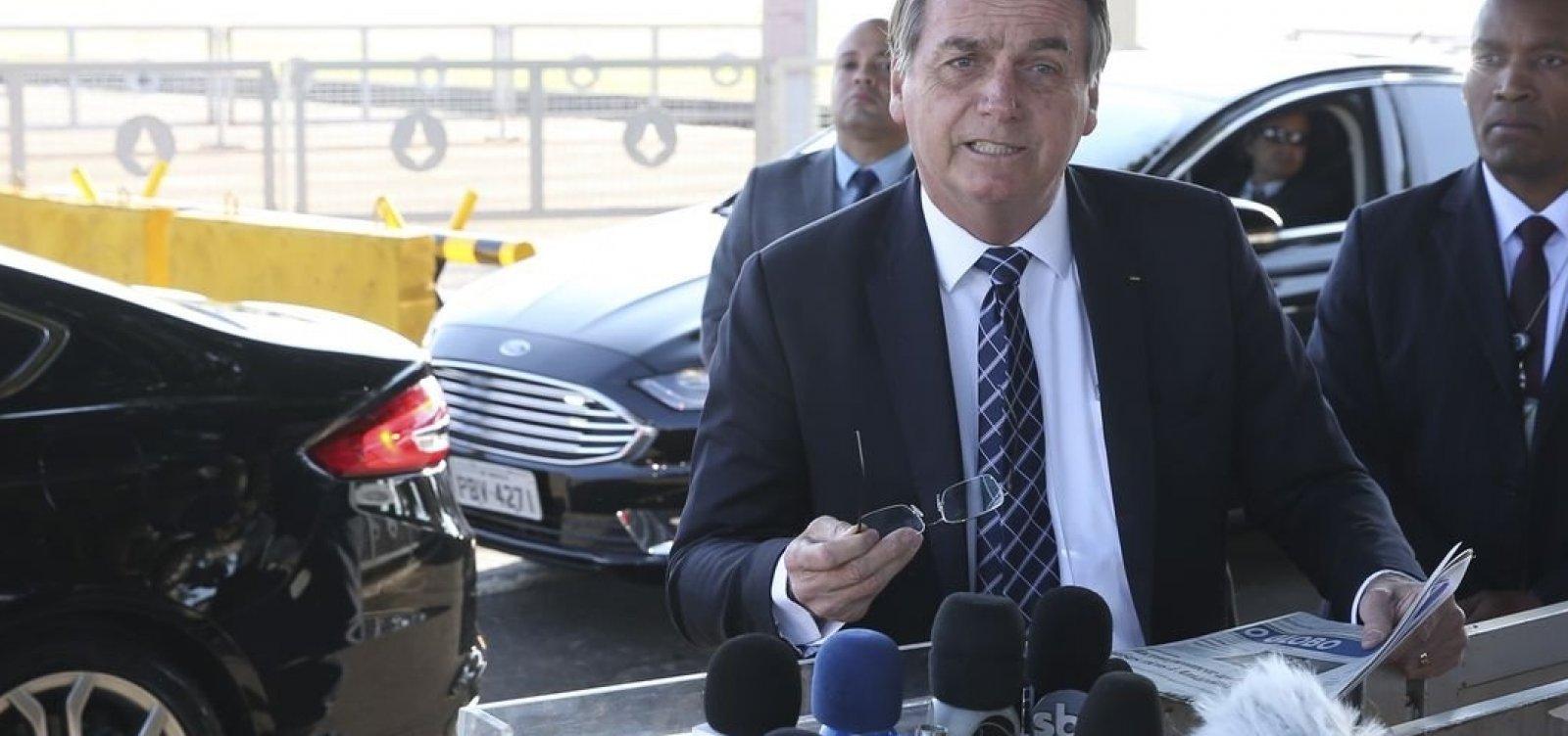 ['Com todo respeito a ele, mas não esteve comigo durante a campanha', escreve Bolsonaro sobre Moro]