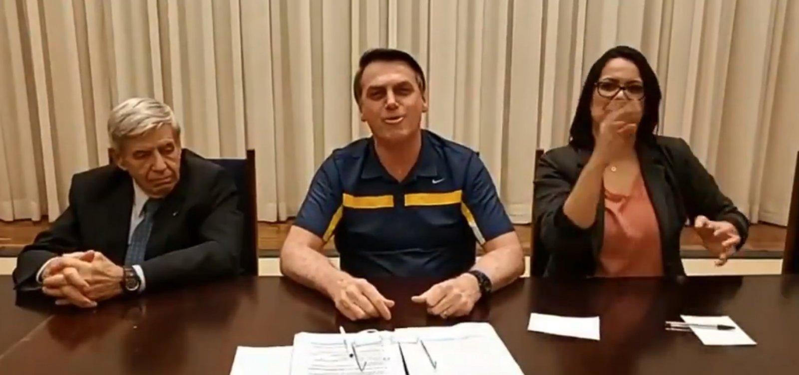 [Bolsonaro chama doação do G7 de 'esmola' e diz que Doria 'mamou' nos governos do PT]