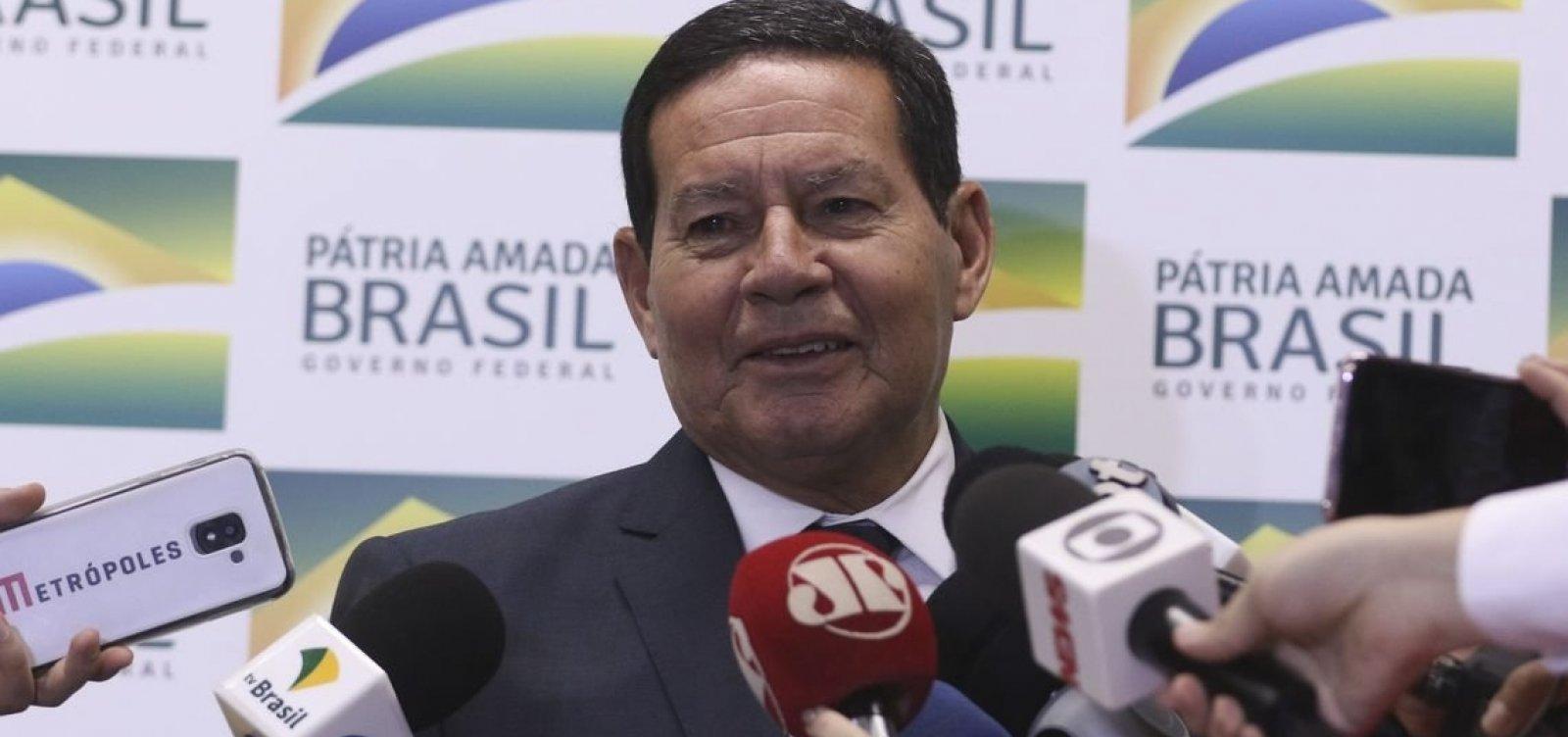 [Governo vai desbloquear R$ 20 bilhões do orçamento ainda neste mês, diz Mourão]