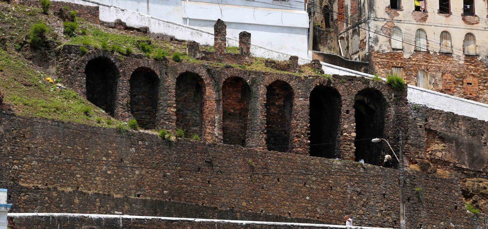 [Recuperação das muralhas no Centro Histórico de Salvador começa amanhã]