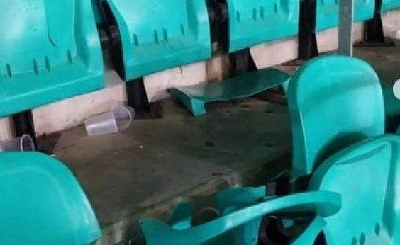 [Imagens mostram ação de vândalos na Fonte Nova; estádio e Vitória repudiam]