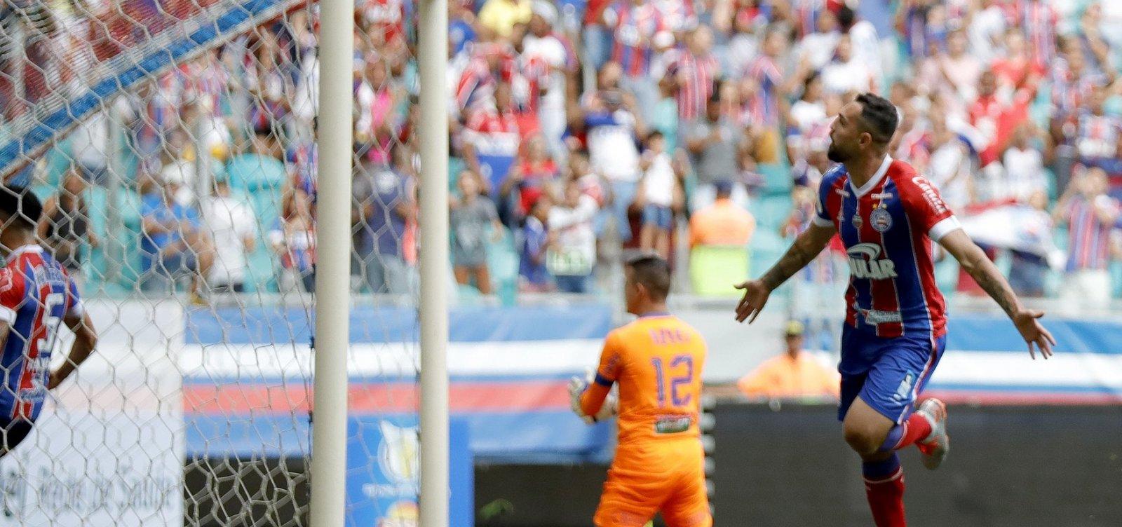 ['Faltou um pouco mais de calma', diz Gilberto após empate do Bahia com o Fortaleza]