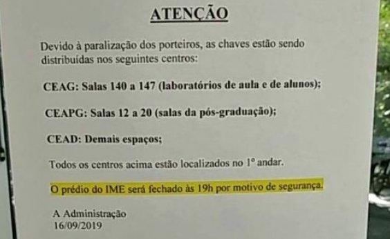 [Instituto de Matemática e Estatística da Ufba suspende funcionamento noturno]