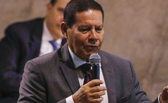 [Mourão diz que superar crise fiscal é única forma de retomar crescimento no Brasil]