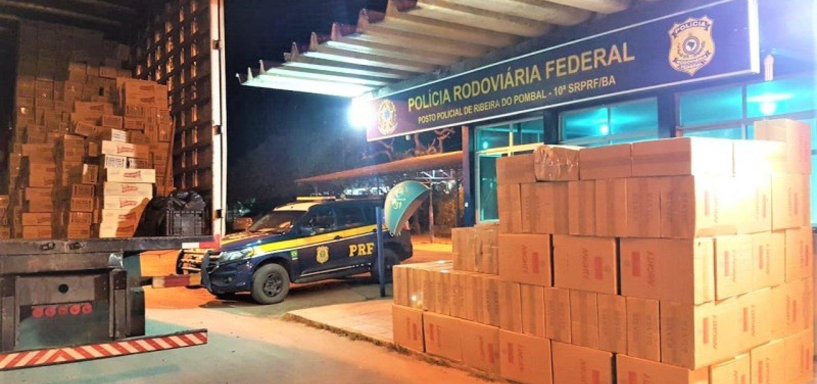 [Carga de cigarros contrabandeados avaliada em mais de R$ 1 milhão é apreendida na BR-110]