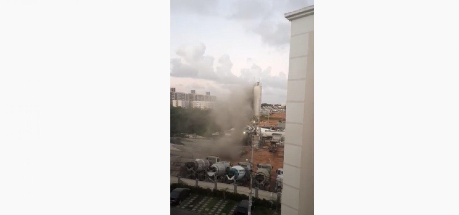 [Obra da MRV causa 'tempestade de cimento' em Lauro de Freitas; veja vídeo]