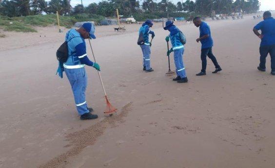 [Manchas de petróleo: Cerca de 15 kg são recolhidos em praia de Salvador hoje]