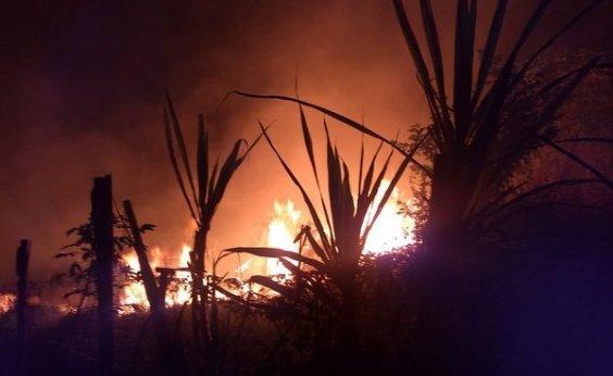 [Incêndio atinge área de preservação ambiental em Vitória da Conquista]