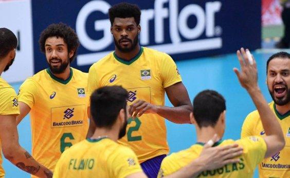 [Brasil vence Polônia e se aproxima do título da Copa do Mundo de vôlei]