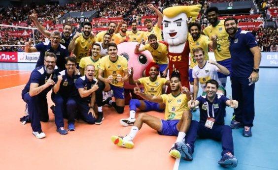 [Com uma rodada de antecedência, Brasil vence o Japão e conquista Copa do Mundo de Vôlei]