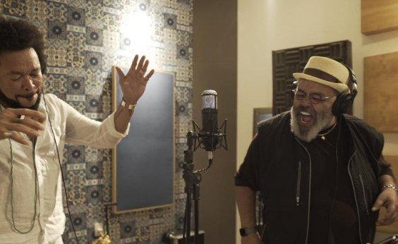 [Em Salvador, Jorge Aragão grava música com Jau em homenagem ao artista baiano]