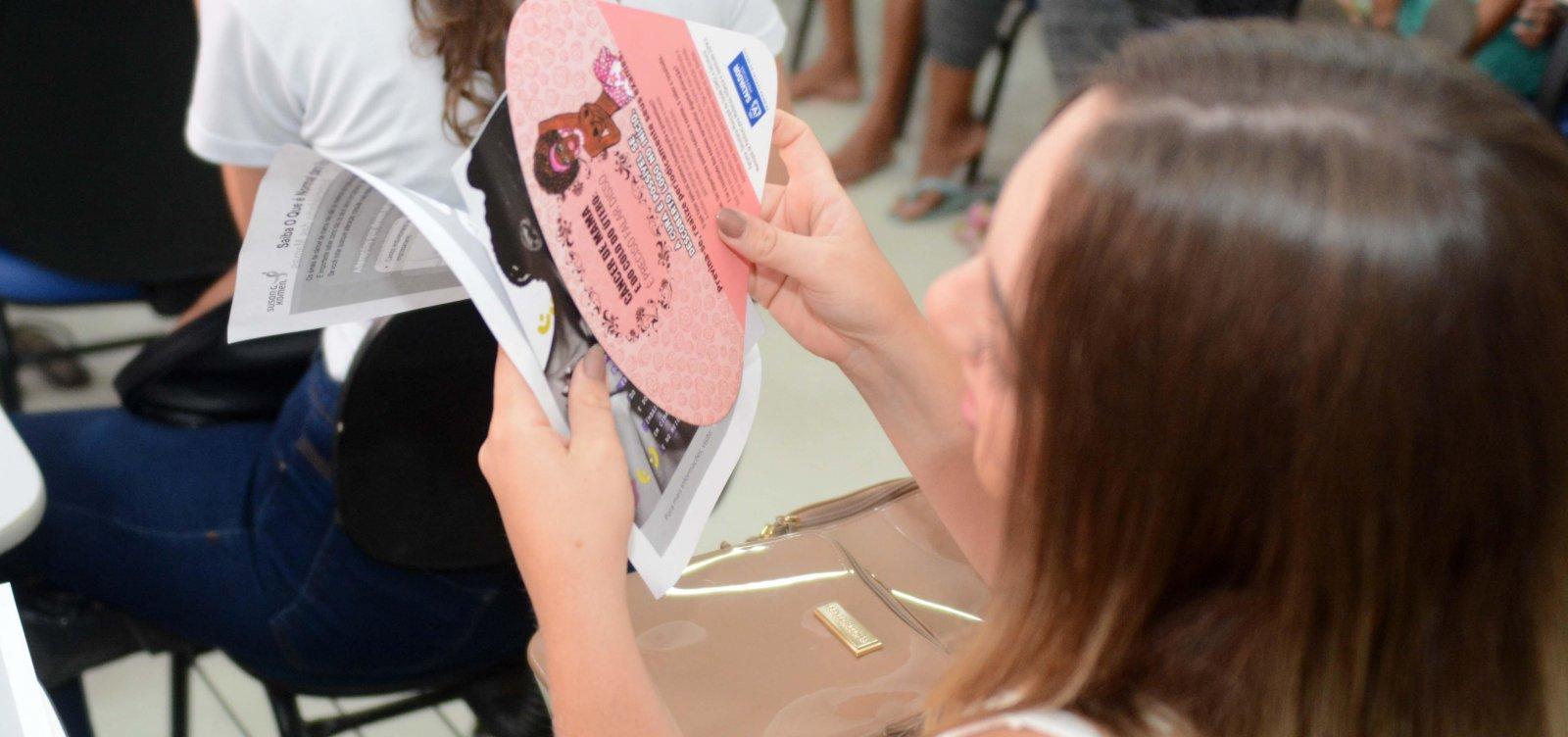 [Cinco bairros de Salvador recebem campanha de prevenção ao câncer de mama]