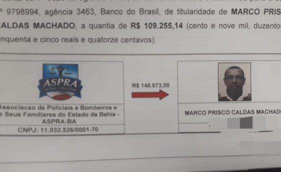 [Investigação aponta transferências de R$ 148 mil das contas da Aspra para Prisco]