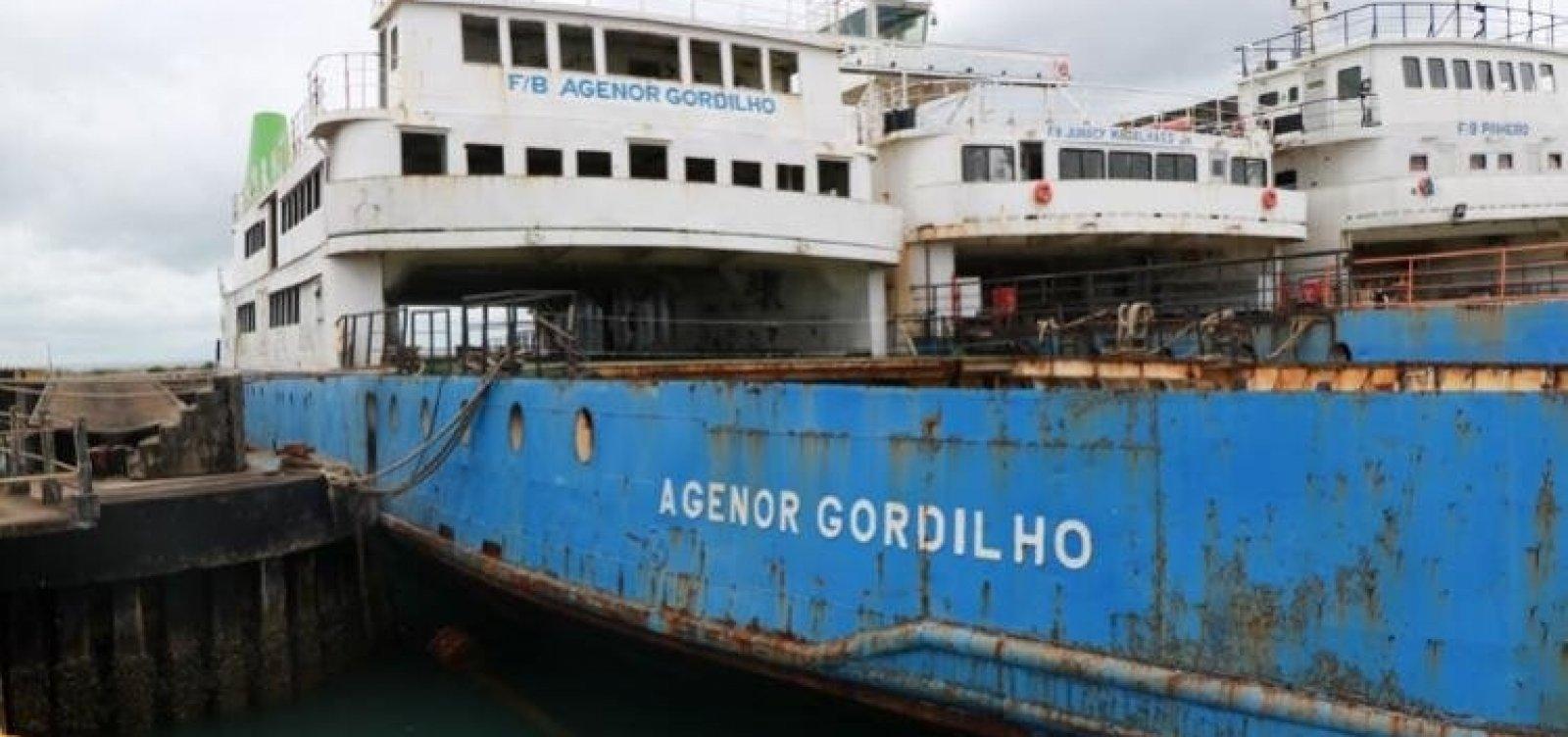[Afundamento do ferry boat Agenor Gordilho é suspenso]