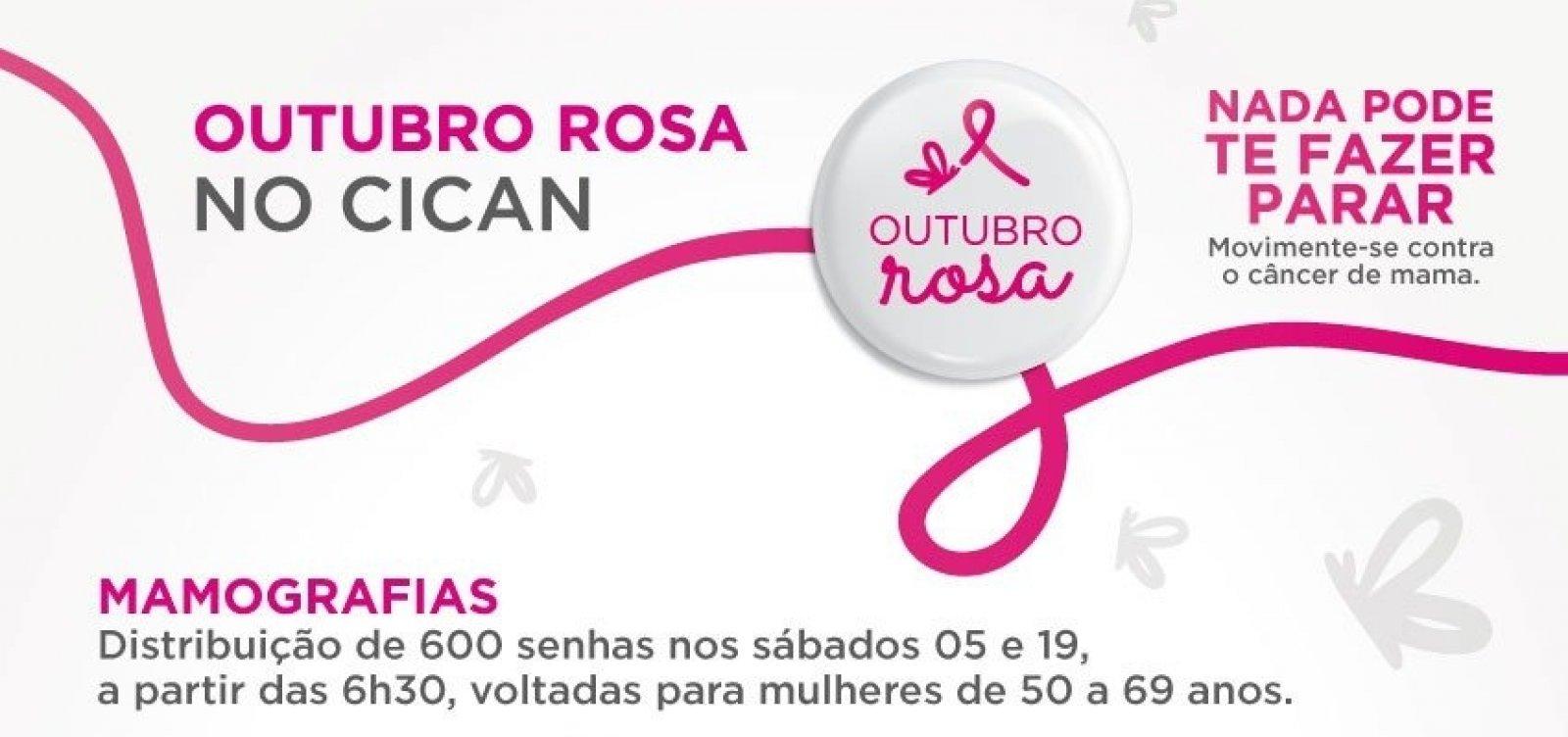 [RBD oferece 600 senhas para exames gratuitos de mamografia neste sábado]
