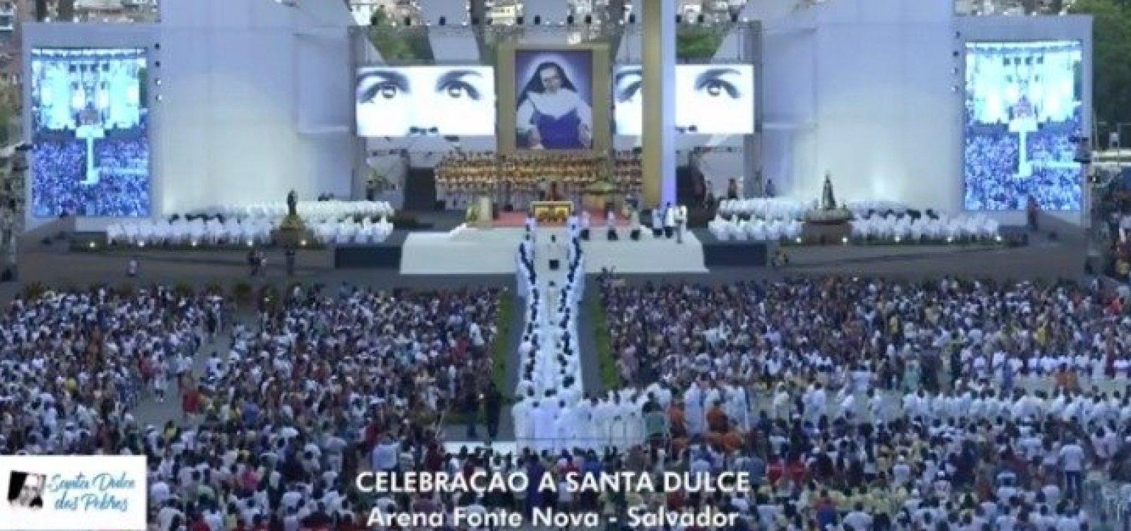 [Milhares de fiéis comparecem a celebração à Santa Dulce dos Pobres]