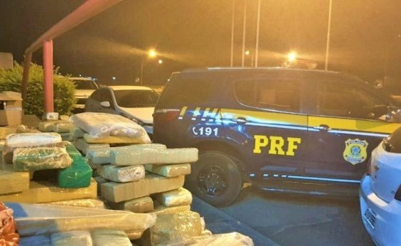 [Após perseguição, PRF apreende 200 kg de maconha em carro na BR-116]