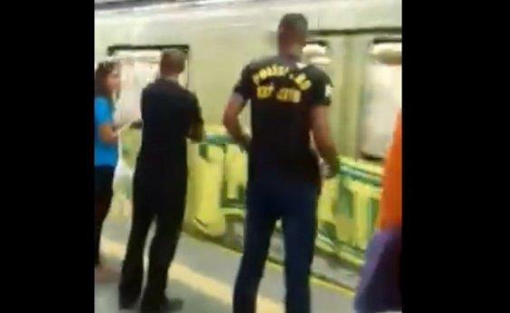 [Idosa é agredida por suposto policial do Exército na Estação Acesso Norte]