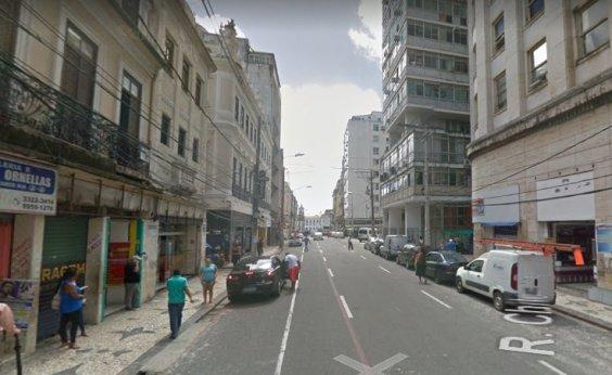 [Tráfego de veículos da rua Chile é alterado para obras de requalificação]