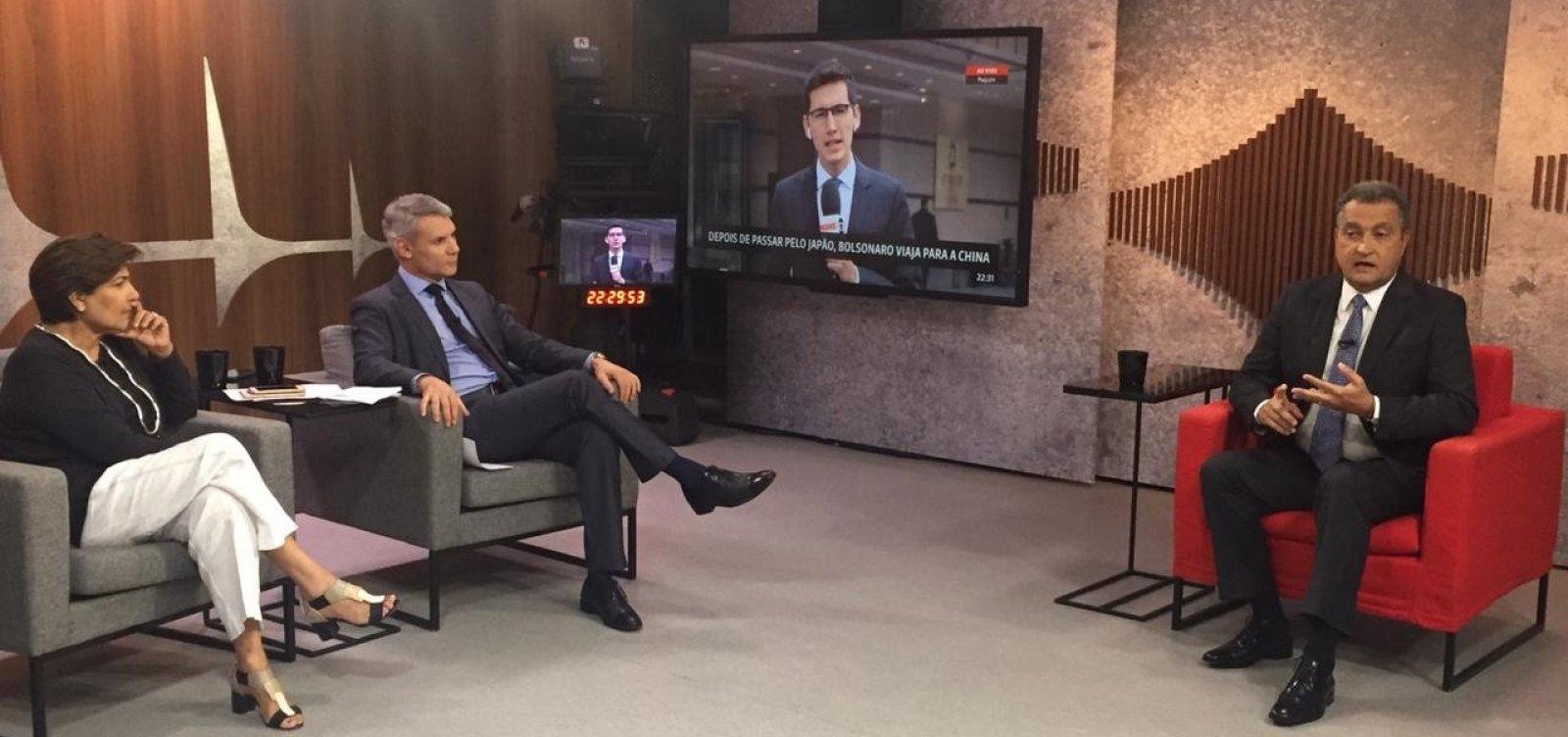 [Rui culpa governo Bolsonaro por usar 'critérios políticos ideológicos' na falta de reação a óleo]