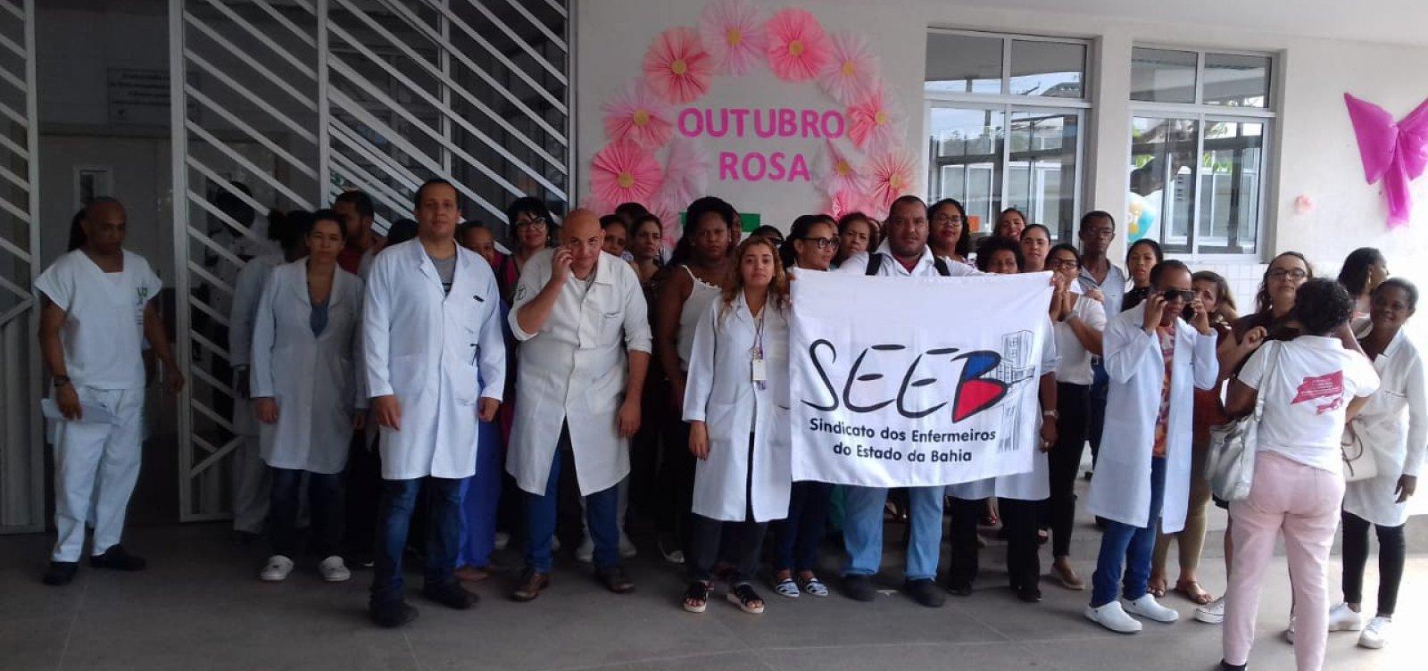 [Trabalhadores do Hospital Ernesto Simões Filho protestam em Salvador]