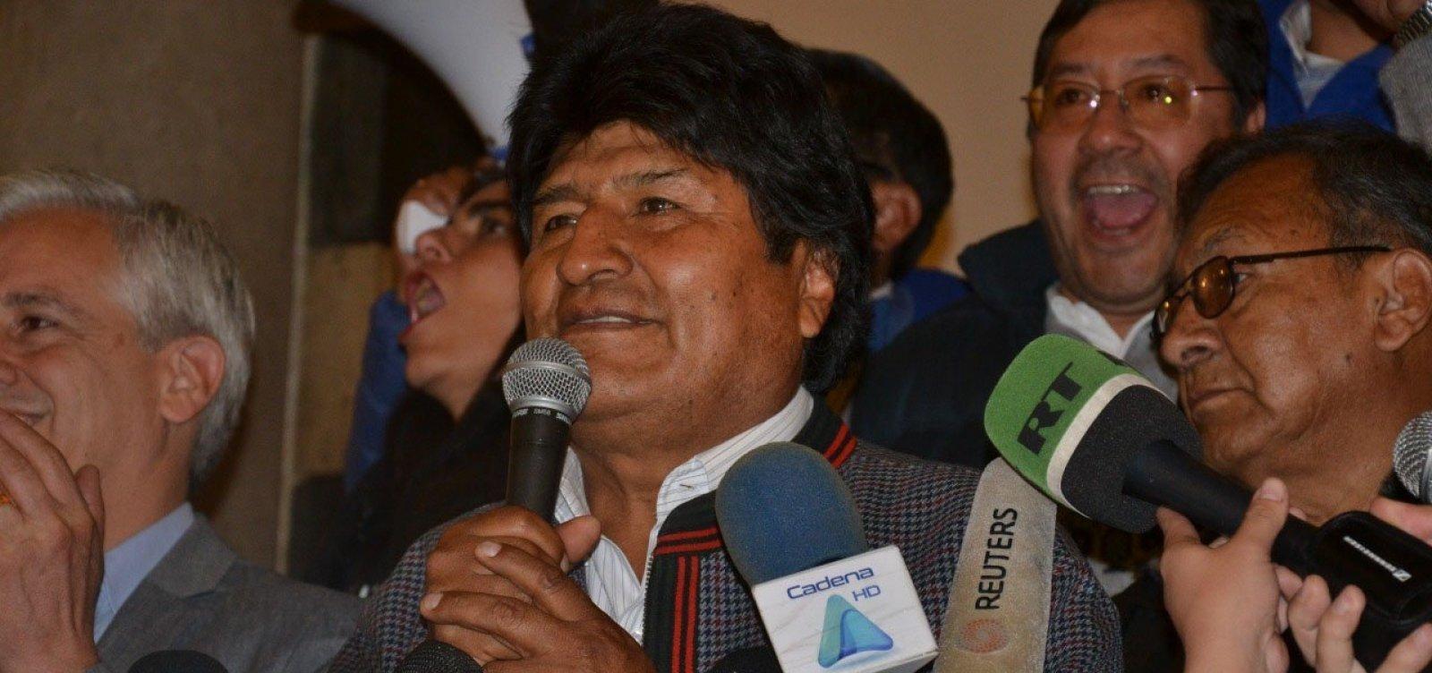 [Morales afirma que tentativa de golpe está em marcha e declara estado de emergência]