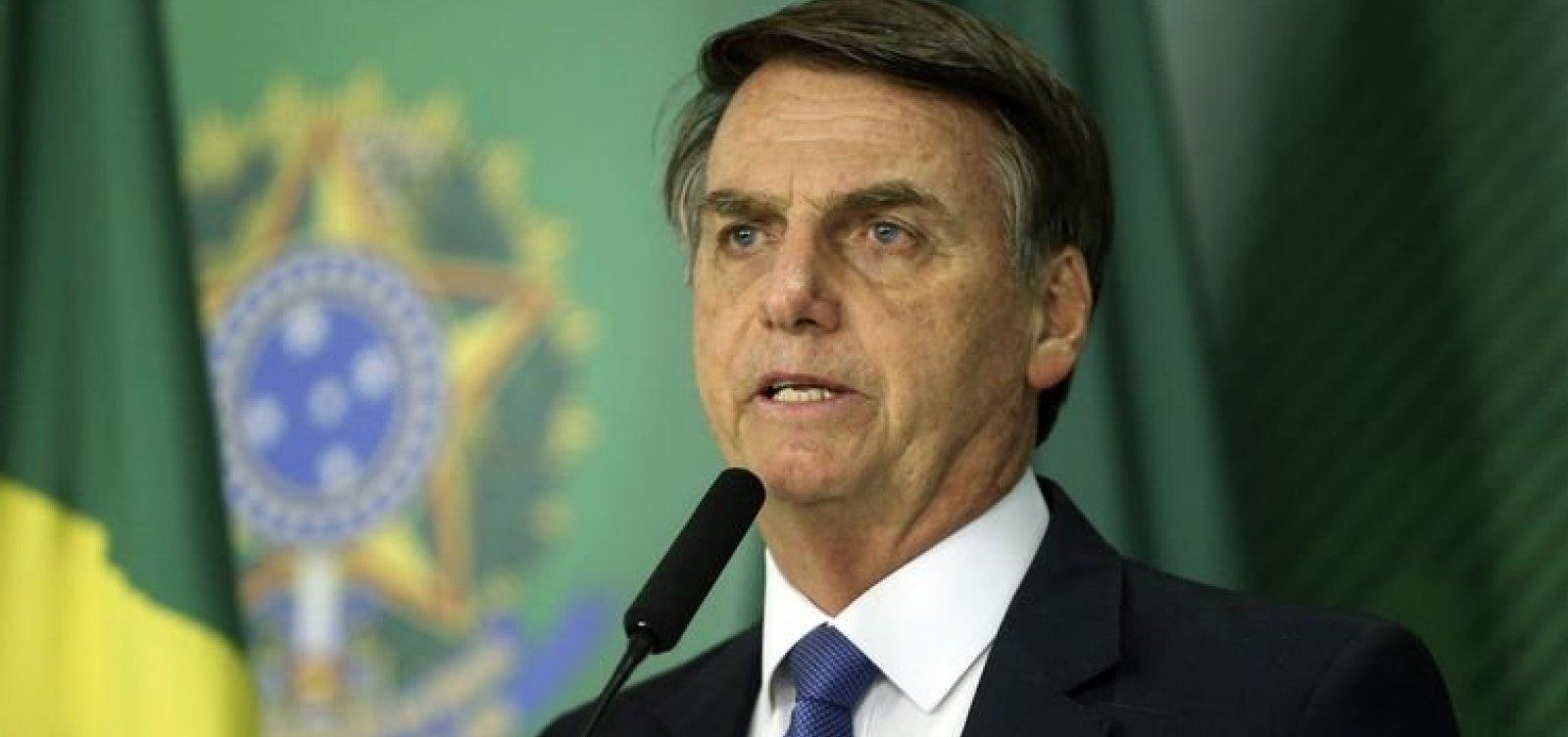 [Bolsonaro diz que Brasil deixou de se armar por ideologia]