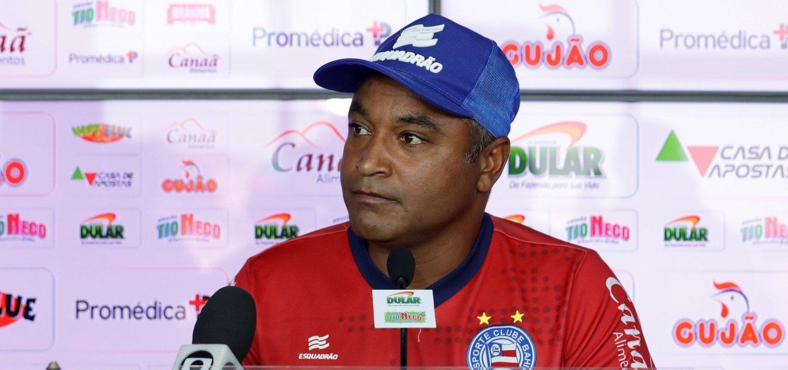 [Após derrota para o Inter, Roger diz que ansiedade atrapalhou o desempenho do Bahia]