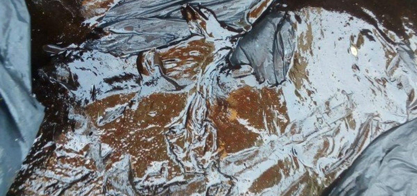 [Manchas de óleo são encontradas em praia de Una, no sul da Bahia]