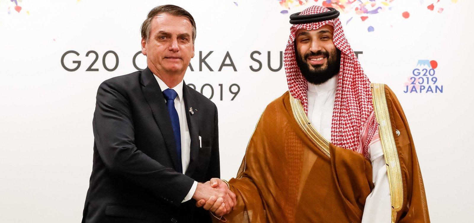 [Bolsonaro diz ter 'afinidade' com príncipe saudita e recomenda encontro a mulheres]