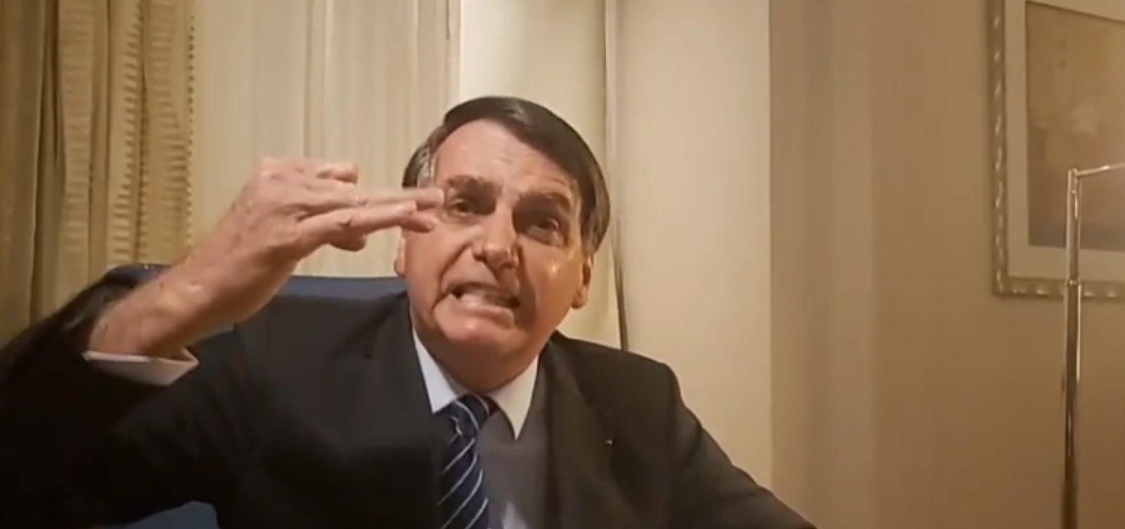 [Após matéria do caso Marielle, Bolsonaro ataca Globo e Witzel ]