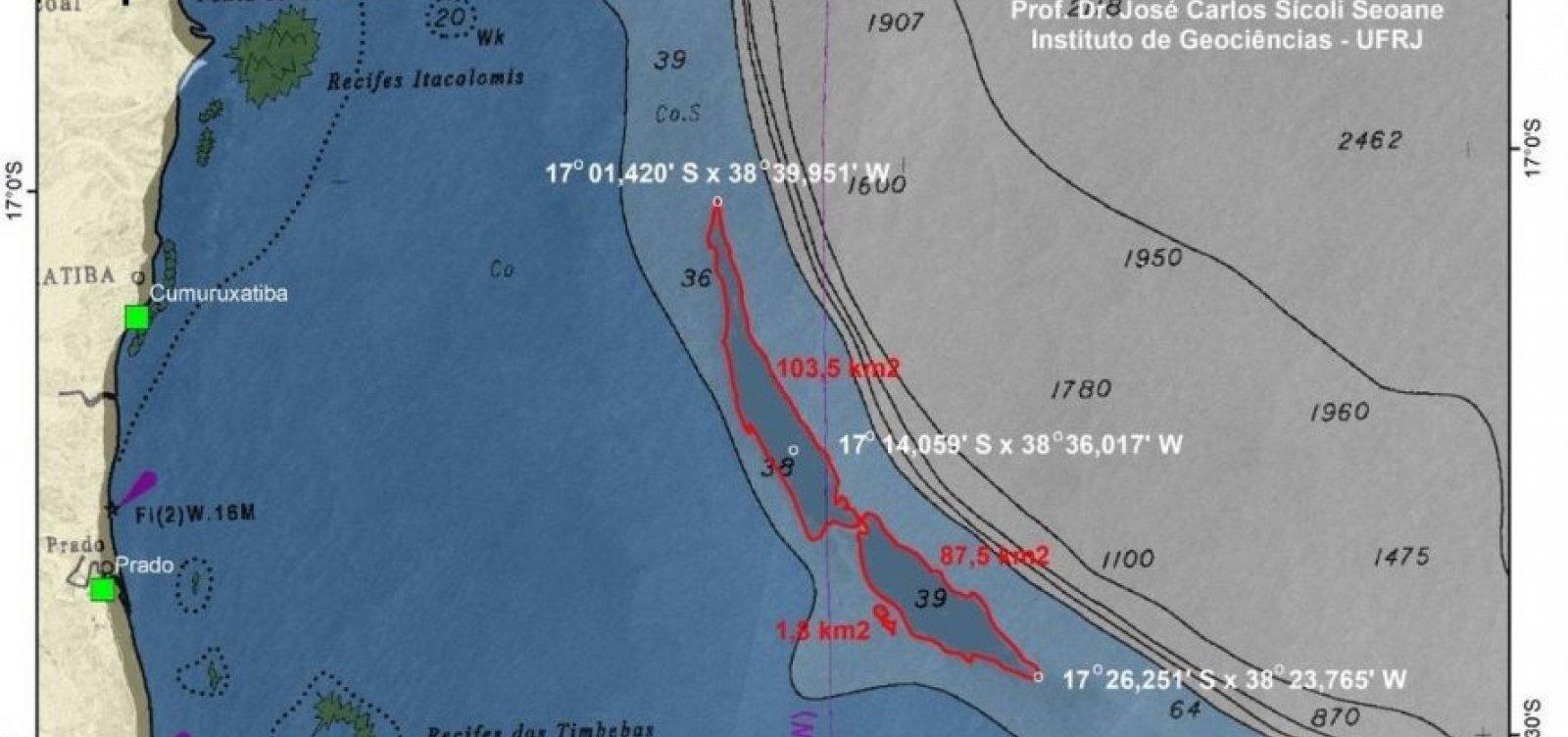 [UFRJ localiza mancha de óleo de 200km² próxima ao sul da Bahia]