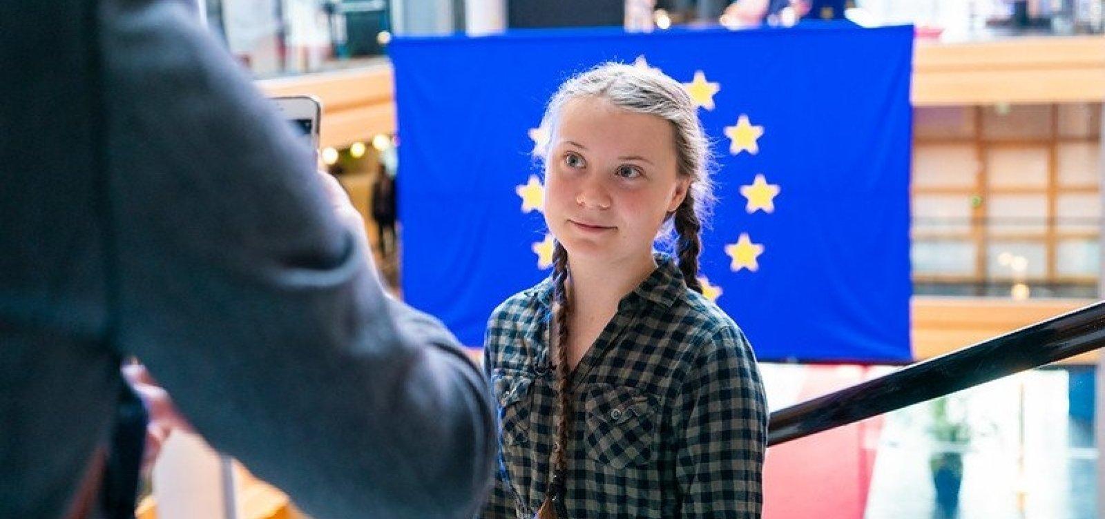 [Greta Thunberg rejeita prêmio de 47 mil euros e cobra ação de políticos]