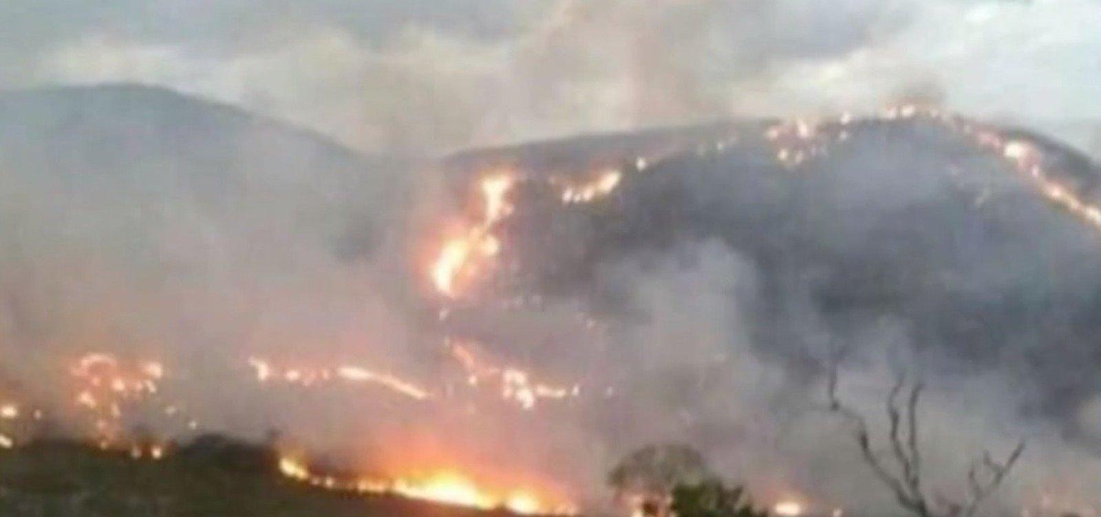 [Incêndio destrói área de540 hectares em Rio de Contas]