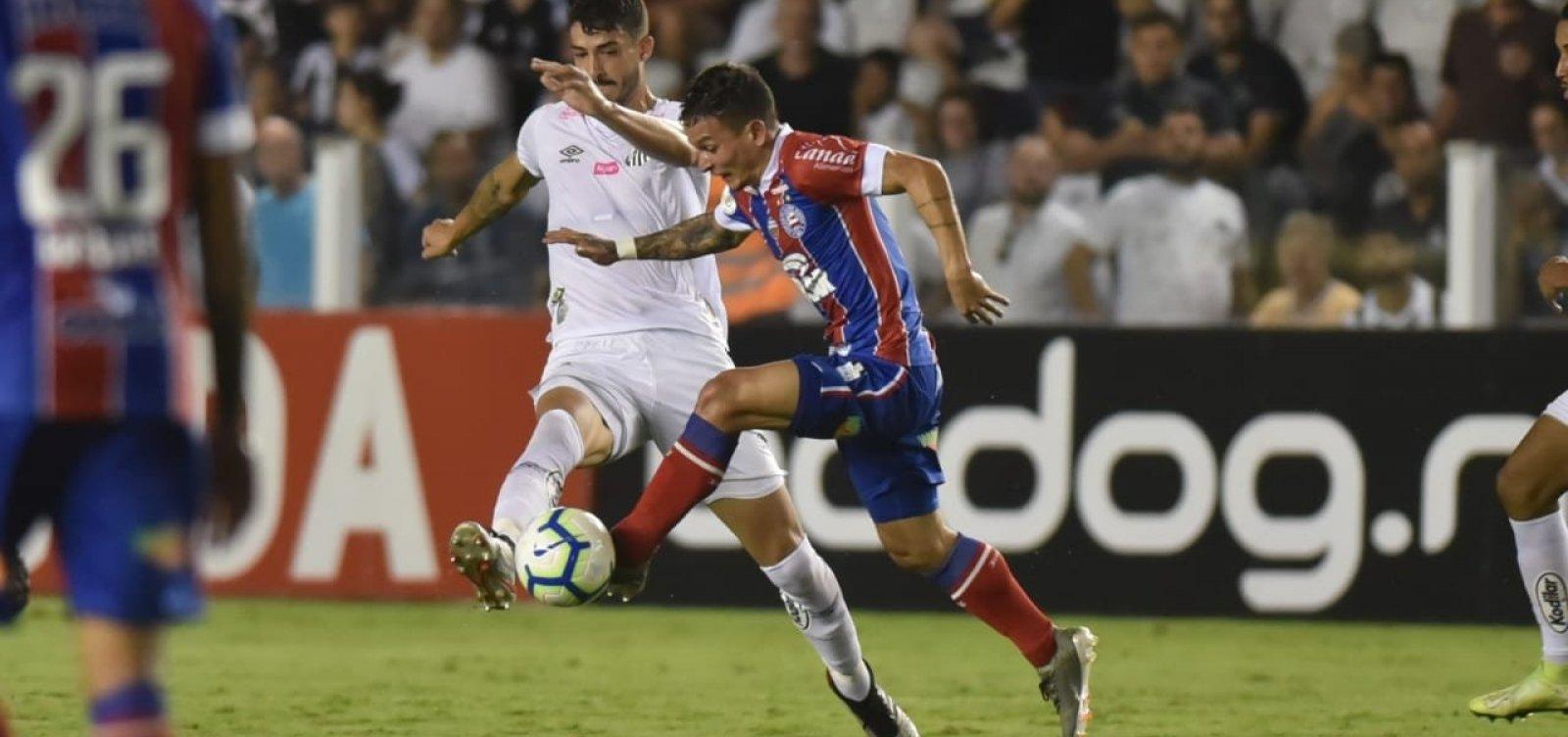 [Bahia perde para o Santos e soma terceira derrota consecutiva na Série A]