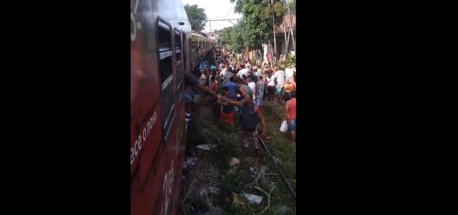 [Vídeo mostra momento posterior à colisão de trens no Subúrbio de Salvador]