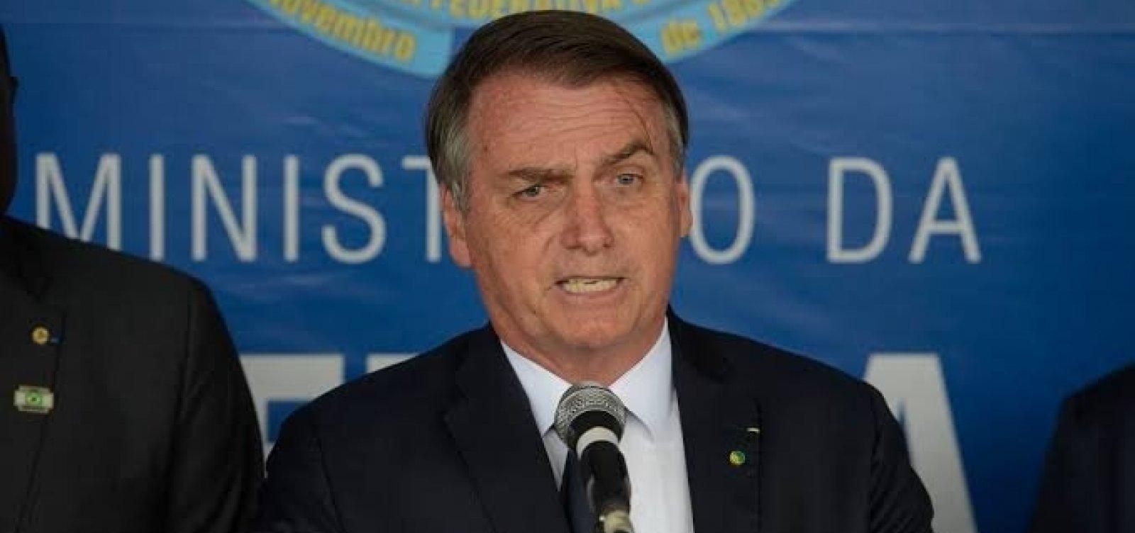 [Bolsonaro avalia se filiar ao Partido Militar caso deixe o PSL]