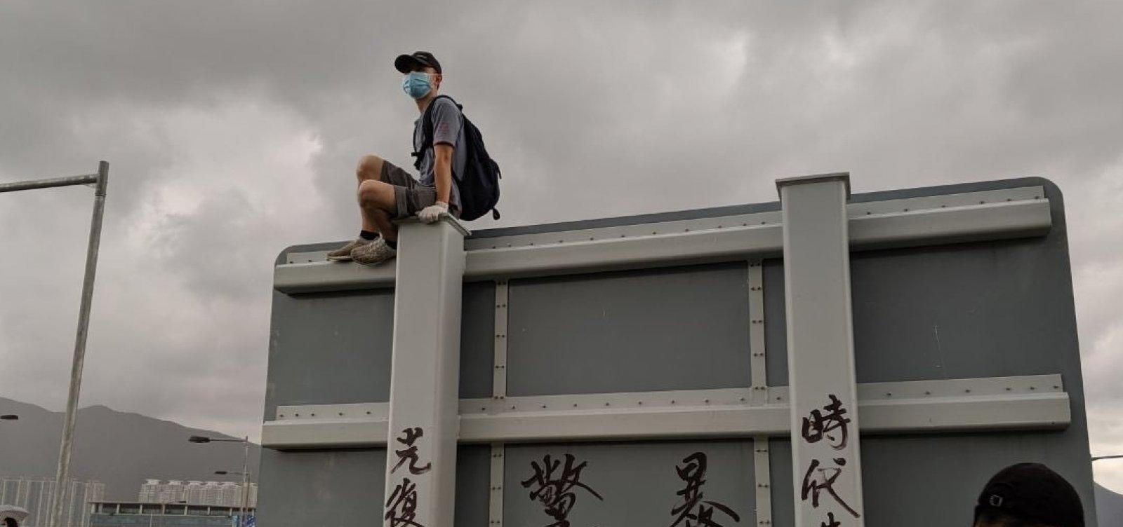 [Maior protesto desde junho ocorre em Hong Kong neste sábado]