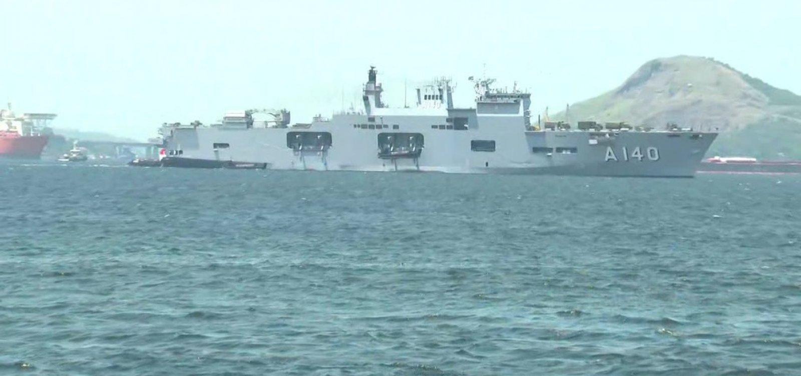 [Marinha envia seus dois maiores navios para auxiliar Nordeste]